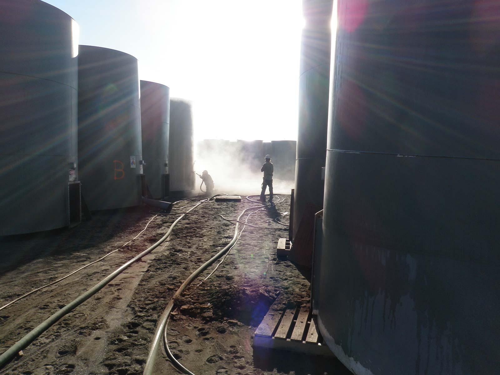 Пескоструйная очистка резервуаров и емкостей