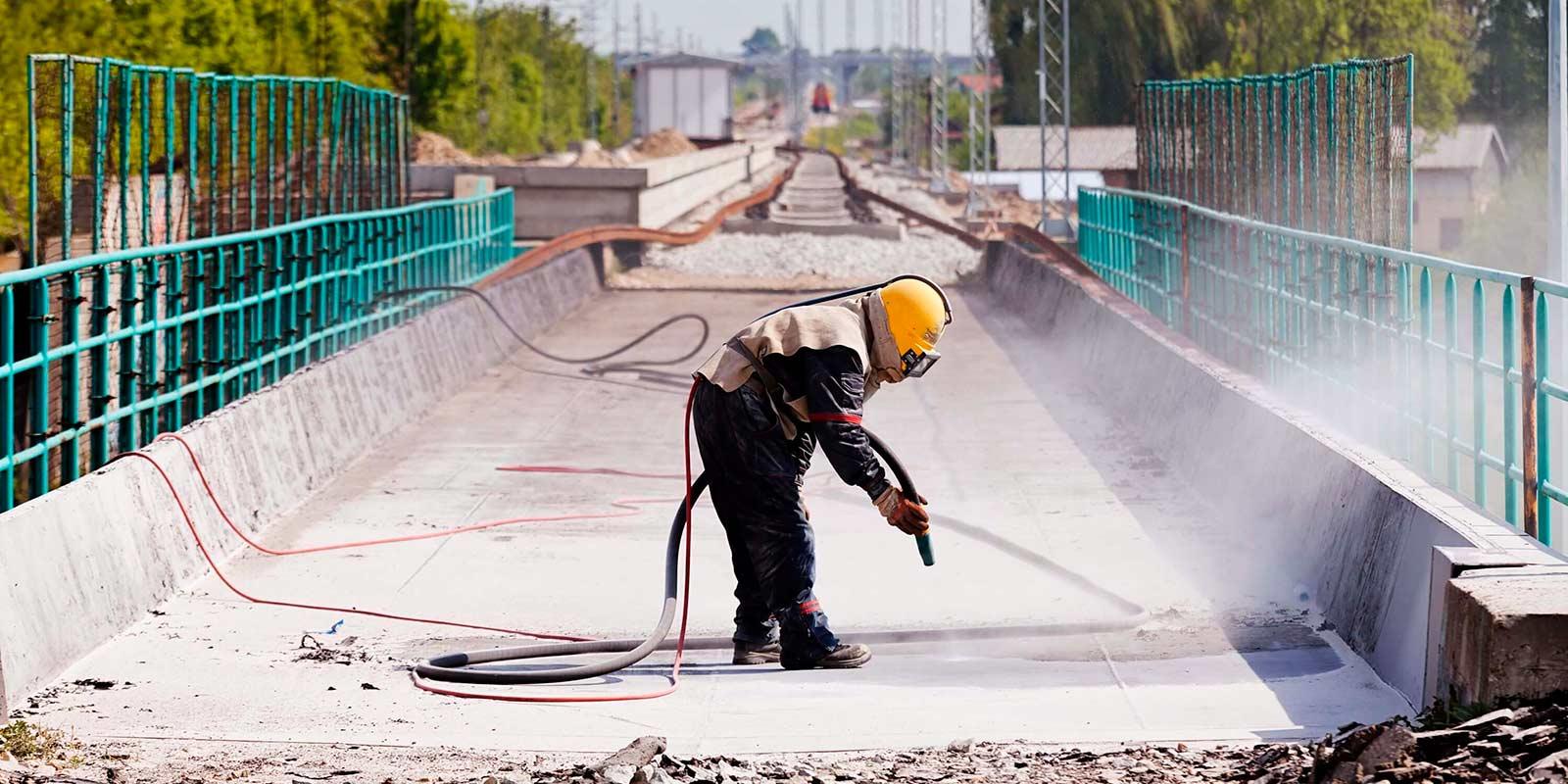 Пескоструйная очистка мостов